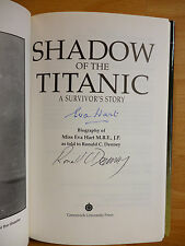 EVA HART SIGNED SHADOW OF THE TITANIC 1994 FIRST EDITION