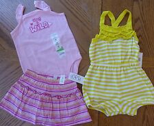New 18 month Girl Summer clothes LOT Romper Scooter $50 retail value NWT