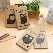 """""""Mr.Owl"""" 1pc Hard Cover Blank Papers Diary Pocket Planner Cute Journal Notebook"""