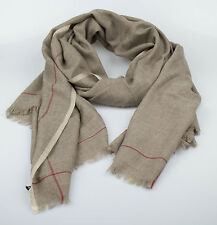 New. ERMENEGILDO ZEGNA Men's Brown Cashmere Scarf $575