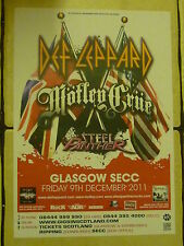 Def Leppard + Motley Crue  Steel Panther - Glasgow -  2011 concert gig A3 poster
