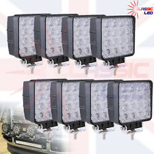 8 x 48w LED Flood Beam Work Light Tractor off-road Truck Cars 4WD 12V 24V Square