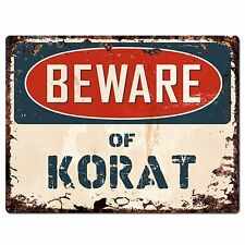 Pp1571 Beware of Korat Plate Rustic Chic Sign Home Room Store Decor Gift