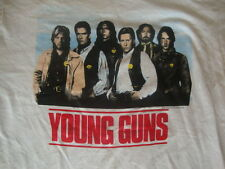 Vintage 80's YOUNG GUNS Emilio Estevez Charlie Sheen 1988 Movie Promo T shirt M