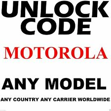 MOTOROLA ANY MODEL Premium Factory Unlock Code Service ANY CARRIER WORLDWIDE