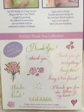 NEW SEE-D's STARTER KIT - THANK YOU - 15x RUBBER STAMPS, ACRYLIC BLOCK & PAD MAT