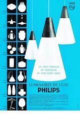PUBLICITE ADVERTISING 126  1962  les luminaires de luxe Philips féeriques