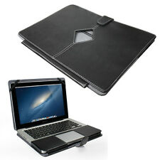 "Smart Black PU LEATHER Sleeve Case Cover for Apple MacBook Pro 13"" with Cut Out"