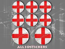 8 x Pegatinas Redondas 3D Relieve Bandera Milan - Todas las Banderas