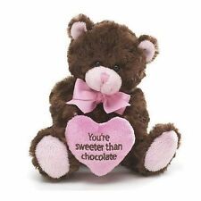 "Burton ""You're Sweeter Than Chocolate"" Plush Stuffed Valentine's Day Teddy Bear"