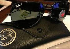 NEW Ray-Ban Rayban Aviator Pilot Polarized Sunglasses RB3025 001/58 Italy Silver