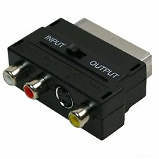 SCART To 3 RCA Phono SVHS S-Video SWITCH Adaptor Converter xbox ps2/3/4 wii