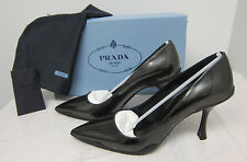 Prada Sport Sole Leather Pumps Size: 37.5/7.5 Color: BLACK Original:$650.00
