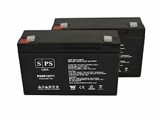 SPS 2 Pack - 6VOLT 12AMP DEEP-CYCLE RECHARGEABLE SEALED ENERGY STORAGE BATTERY 1