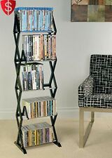Media Storage Rack DVD CD Shelf Organizer Multimedia Shelves Holder Stand 5 Tier