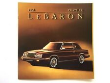 1984 Chrysler LeBaron and Convertible BIG SIZE Car Sales Brochure Catalog