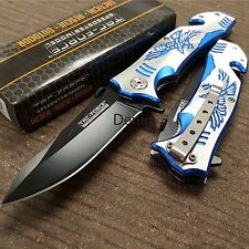 Tac-Force Blue Eagle Rescue Spring Action Assist Assisted Pocket Knife Knives