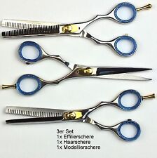 "3x Hair cutting Scissors Thinning Barber Style hairstyle Salon shears  6"" NATRA"