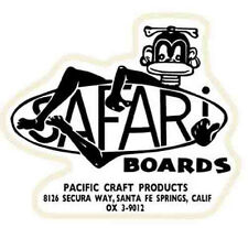 Safari Surfboards    Vintage-Style Travel  Decal