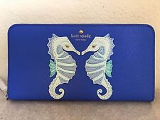 NWT Kate Spade Breath of Fresh Air Seahorse Applique Lacey Wallet $228