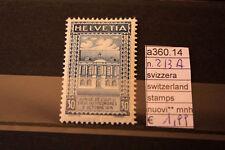 STAMPS SVIZZERA SWITZERLAND NUOVI MNH ** 213A (A36014)