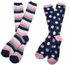 2 Pairs of Ladies Soft & Warm Long FLUFFY Socks Cosy Socks