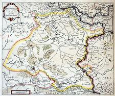 ZUTPHEN / Grafschaft - Landkarte von Blaeu 1640 - schönes Original