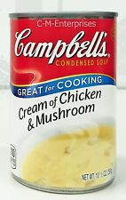 Campbell's Cream of Chicken & Mushroom Condensed Soup 10.5 oz 3 Cans Campbells