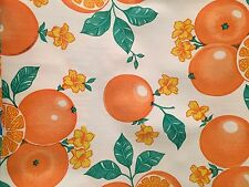 Oil Cloth Tablecloth Craft By The Yard Vintage Oranges On White Popular
