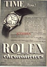 Small 1939 ROLEX 'Oyster Chronometer' Wrist Watch AD - Art Deco Print ADVERT