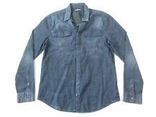 CK CALVIN KLEIN VAPOR VINTAGE OXFORD BLUE LARGE BUTTON DOWN SHIRT MENS NWT NEW