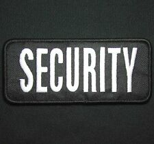 SECURITY WHITE BLACK UNIFORM EMBROIDERED TACTICAL PATCH PANEL HOOK 9X4