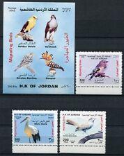 JORDANIEN JORDAN 2002 Vögel Zugvögel Storch Birds Pirol 1804-6 + Bl.100 ** MNH
