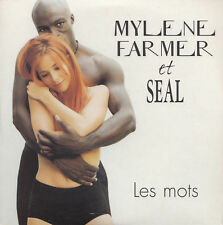 MYLENE FARMER & SEAL Les mots | MAXI CD Single | rare Cardsleeve from FRANCE