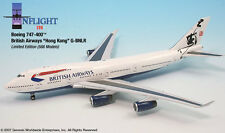 InFlight200 British Airways Hong Kong Boeing 747-400 1:200 Scale REG#G-BNLR Mint