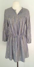 NWT• Isabel Marant Etoile Dress Sz 38,Gray With Gold Striped $265.