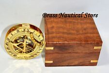 VINTAGE MARITIME ANTIQUE BRASS SUNDIAL COMPASS GIFT NAUTICAL & COLLECTIBLE DECOR