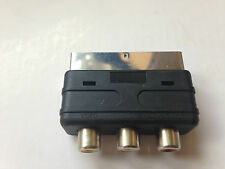 Brand New SCART Male Plug to 3 RCA Female A/V Audio Video Adaptor Converter