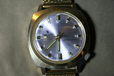 Mens VINTAGE DAICHI CLASSIC Gold Plated Date Watch with NEW GP MESH STRAP.
