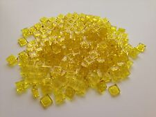 Lot 200 LEGO 1x1 Yellow Translucent Clear Plates Square Building Brick Star Wars