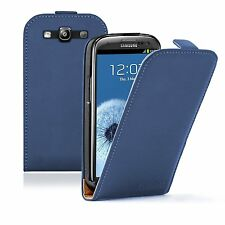 Ultra Slim BLUE Leather Case Cover Pouch For Samsung Galaxy i9301 S3 Neo