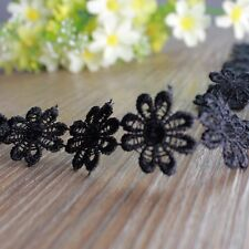 1yd Sewing DIY Lace Trim Clothing Accessory Embroidery Daisy Flower Applique New