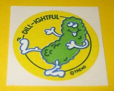 Vtg 80's TREND Scratch n Sniff MATTE Sticker DiLL-iGHTFUL Dill Pickle Scent~Rare