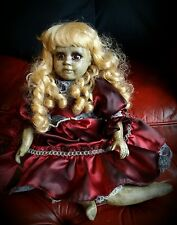 Crimson. ooak horror doll. Creepy doll. Gothic doll. Porcelain doll. Reborn