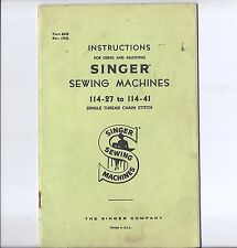 1963 Singer Sewing Adjusters Manual for Model 114 Machines _114-27 to 114-41