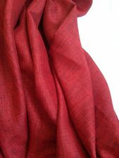 Curtain Fabric Prestigious Red Black Brookville Tweed Linen Weave 10 Metre Roll