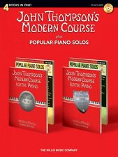 John Thompson's Modern Course plus Popular Piano Solos 4 Books in One! 000416865