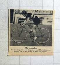 1956 Millie Robinson Douglas Isle Of Man Long Distance Cycling Champion