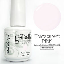 15ml Mabel's Gel Nail Art Soak Off Color UV Gel Polish UV Lamp- Transparent Pink
