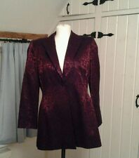 Principles plum brocade jacket with one button fastening size 12